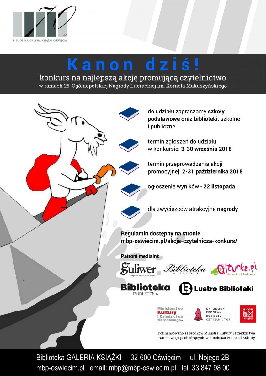f9da86a7b8097 Organizatorem konkursu jest Miejska Biblioteka Publiczna im. Ł. Górnickiego  w Oświęcimiu.