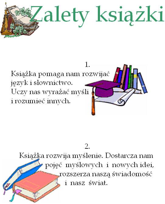 Zalety Książki